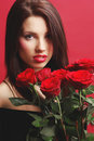 Free Woman With Red Rose Stock Photography - 7901382