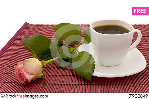 Free Coffee And Rose Royalty Free Stock Images - 7900849