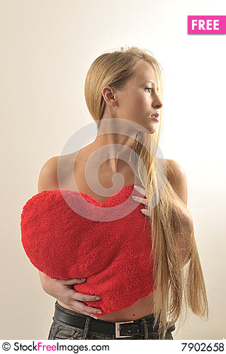 Sexy look blond girl Desire and Waited for love Stock Photo