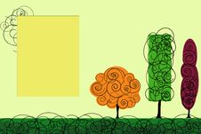 Free Vector Trees Royalty Free Stock Images - 7900469