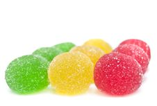 Free Sweet Fruit Color Candy On White Stock Photography - 7900562