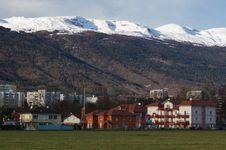 Free Town Under Mountains Stock Photo - 7900570