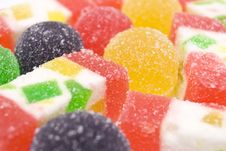 Free Sweet Fruit Color Candy On White Stock Images - 7900884