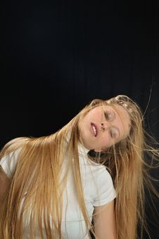 Free Sexy Blond Long Hair Teen Age Girl Royalty Free Stock Images - 7901259