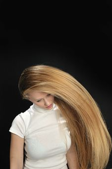 Sexy Blond Long Hair Teen Age Girl Royalty Free Stock Image