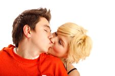 Free Happy Young Couple Royalty Free Stock Photos - 7901758