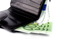 Free Euro And A Leather Purse Royalty Free Stock Images - 7901759