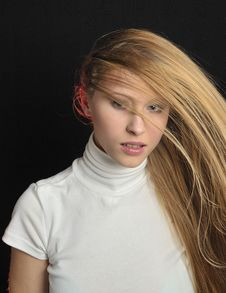 Sexy Blond Teen Age Girl Stock Photography