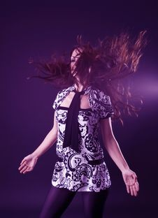 Free Woman Dancing Stock Photography - 7902132