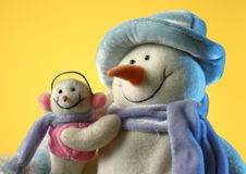 Free Snowman With His Little Baby Royalty Free Stock Image - 7902156