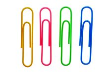 Free Four Paper Clips Stock Photos - 7902313