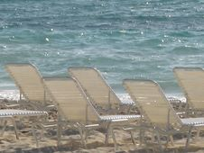 Free Chairs By The Beach Royalty Free Stock Photography - 7902597