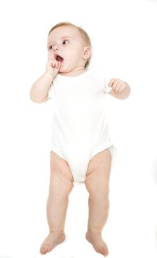 Free Little Baby On A White Background Stock Images - 7903484
