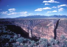 Rio Grande Gorge Bridge Stock Photography