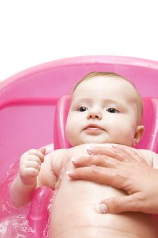 Free Baby In Bath Stock Image - 7903621