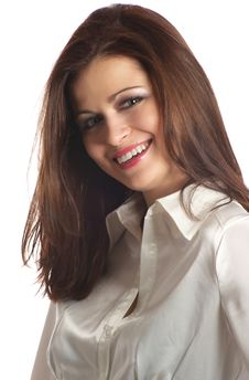 Free Laughing Young Woman With Brown Hair Royalty Free Stock Photography - 7903627