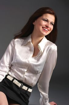 Free Laughing Young Woman With Brown Hair Stock Photos - 7903653