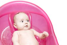 Baby In Bath Royalty Free Stock Images