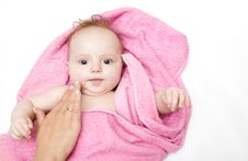 Free Little Baby After Bath Royalty Free Stock Photos - 7903768