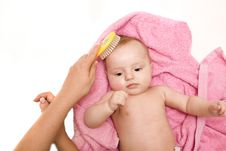 Little Baby After Bath Royalty Free Stock Photography