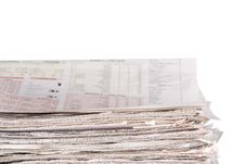 Free Newspapers Stockpile Royalty Free Stock Photography - 7905217