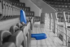 Free Blue Chair On Stadium Stock Images - 7905424