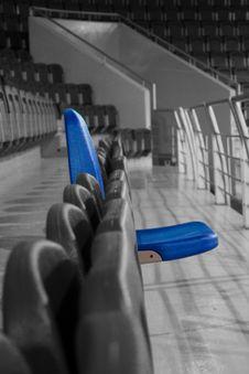 Free Blue Chair On Stadium Stock Image - 7905461