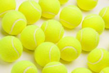 Free Group Of Tennis Balls Royalty Free Stock Photography - 7905617