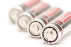 Free Batteries On White Royalty Free Stock Photo - 7905725