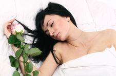 Free Attractive Lady In Her Bed Royalty Free Stock Image - 7905986