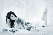 Free Attractive Lady In Her Bed Stock Photography - 7905992