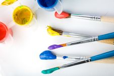 Free Paints And Brushes Stock Photo - 7906060