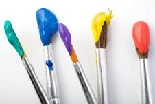 Set Of Paintbrushes Royalty Free Stock Photo