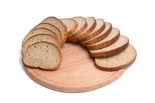 Free Pieces Of Long Loaf And Round Board. Stock Photography - 7906122