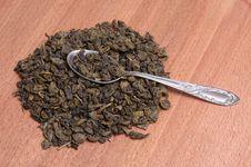 Free Green Tea And Spoon. Stock Photos - 7906523