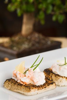 Free Salmon Toasts Stock Images - 7906604