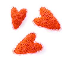 Free Three Woollen Red Hearts Royalty Free Stock Image - 7906706