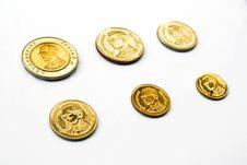 Free Satangs & Bahts (thailand Coins) Stock Photos - 7906813