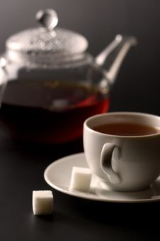 Free Cup Of Tea And Tea Pot Stock Photos - 7906953
