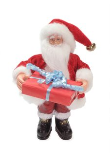 Santa Claus With Gift Royalty Free Stock Photo