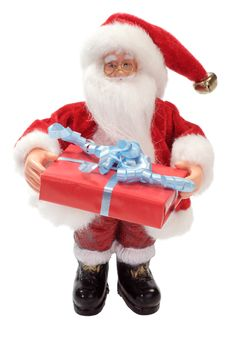 Free Santa Claus With Red Gift Stock Image - 7907171