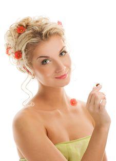 Free Woman With Ladybug Stock Images - 7907174
