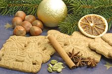 Traditional Spicy Christmas Cookies Royalty Free Stock Image