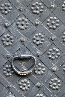 Free Steel Door Handle Royalty Free Stock Photography - 7907637
