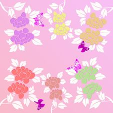 Free Floral Background Royalty Free Stock Photos - 7907808