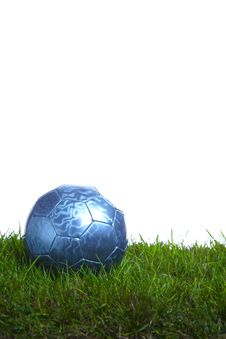 Free Soccer Ball In The Studio Royalty Free Stock Photography - 7907987