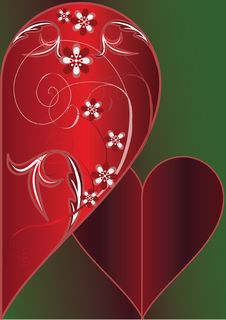 Free Decorative Red Heart Royalty Free Stock Photography - 7908007