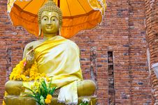 Monument Of Buddha, Ruins Of Ancient Temple Royalty Free Stock Photo