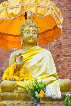 Monument Of Buddha, Ruins Of Ancient Temple Stock Photography