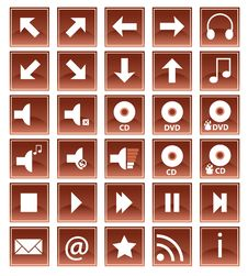 Free Brown Web Icons Stock Photography - 7908442